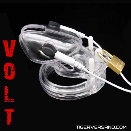 Volt Cage - Electro Chastity Cage - Clear