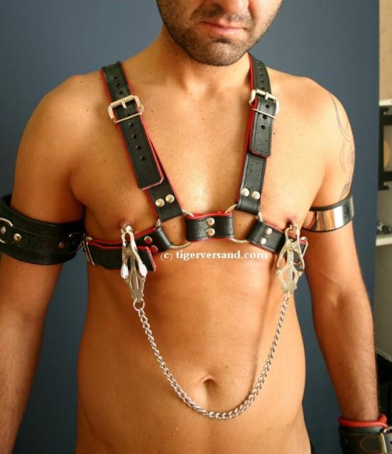 Geil lecken leder harness